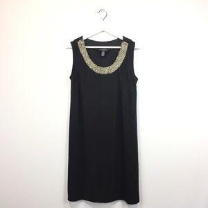 New R&M Richards Sleeveless Beaded Shift Dress 10